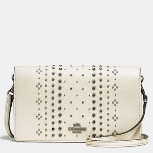 NWT Coach Bandana Rivets Foldover Crossbody Bag